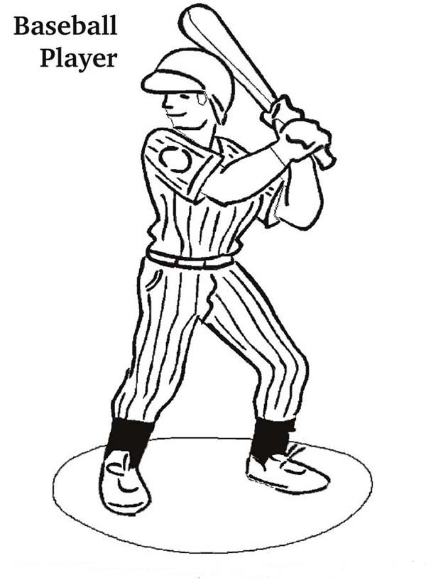 MLB Player Ready In The Batter Box In MLB Coloring Page