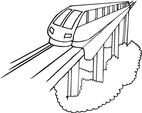 Modern Train Coloring Page : Color Luna