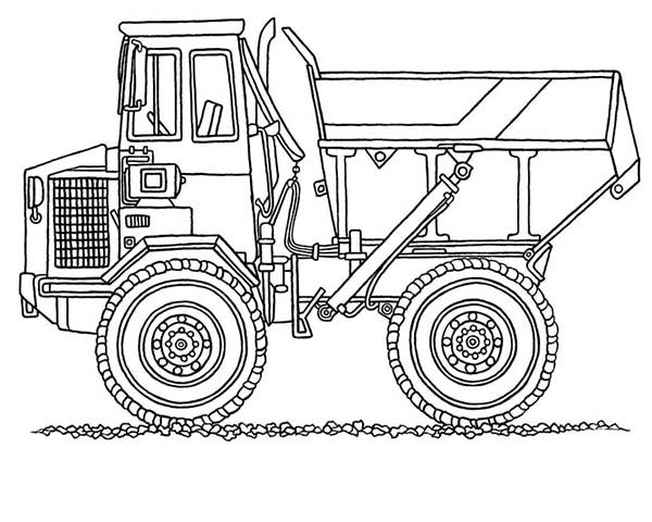 Monster Dump Truck In Digger Coloring Page : Color Luna