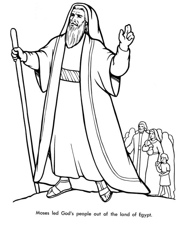 Moses Led Gods People Out of the Land of Egypt Coloring