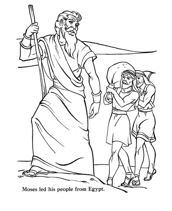 Moses Led His People From Egypt Coloring Page : Color Luna
