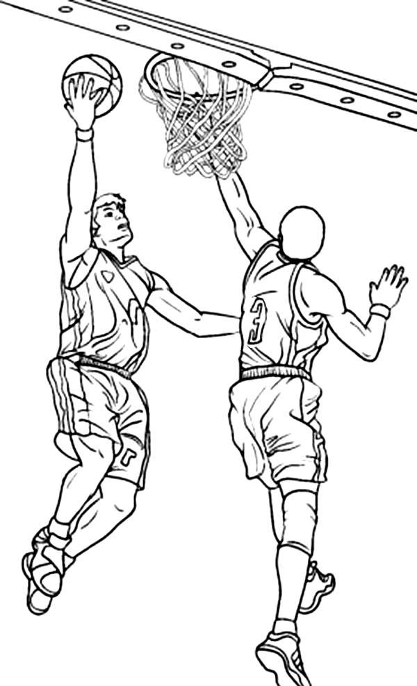 NBA Action Coloring Page : Color Luna