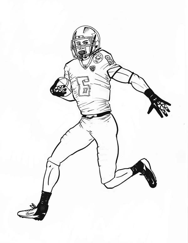 NFL Scoring Touch Down Coloring Page : Color Luna