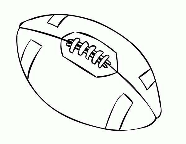 NFL Standard Football Coloring Page : Color Luna