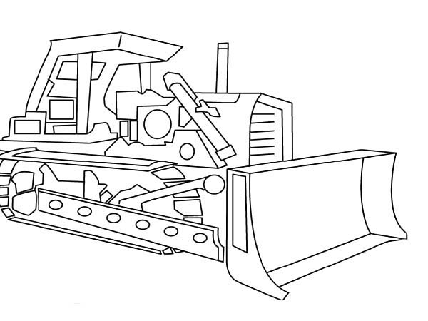 Picture Of Digger Tractor Coloring Page : Color Luna