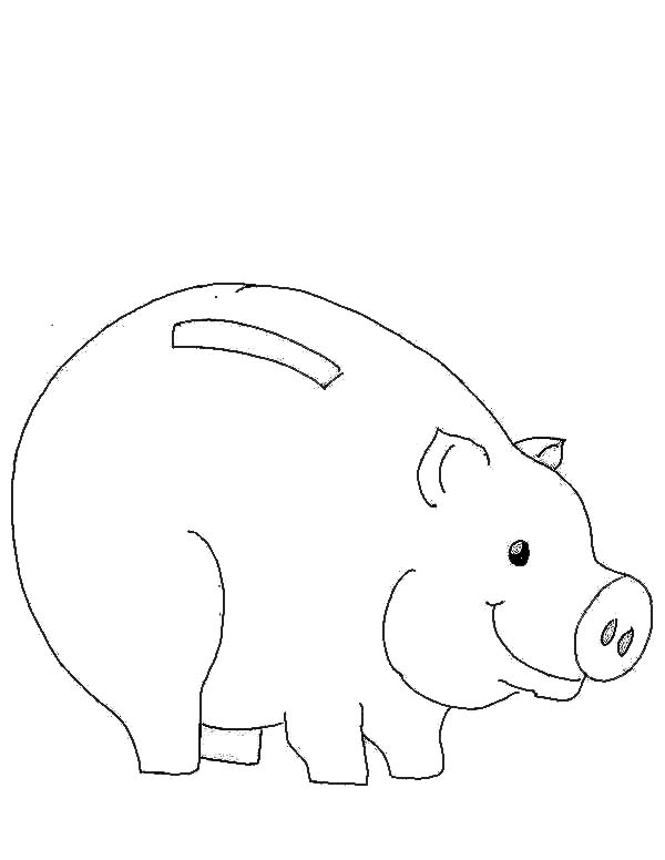 Picture Of Piggy Bank Coloring Page : Color Luna