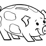 Coin And Piggy Bank Coloring Page : Color Luna