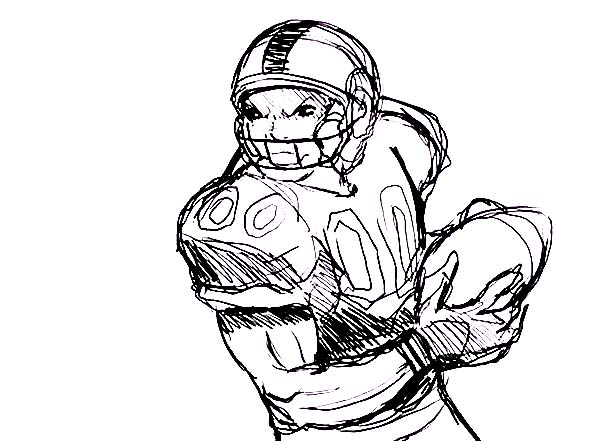 Professional Player Of NFL Coloring Page : Color Luna