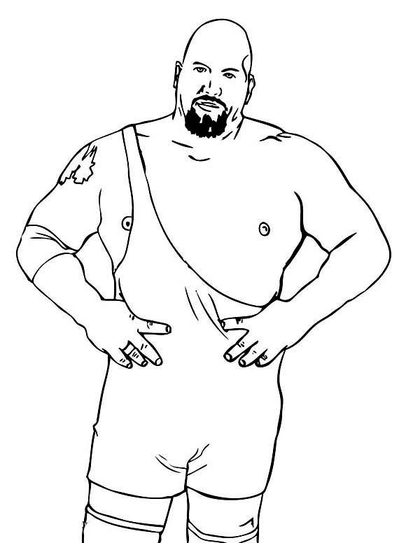 Professional Wrestling Athlete Coloring Page : Color Luna