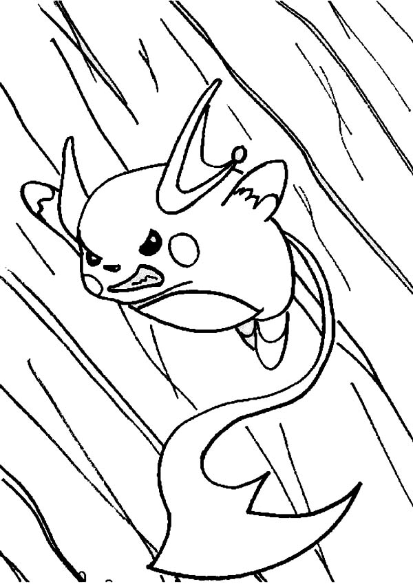Raichu In Action Coloring Page : Color Luna