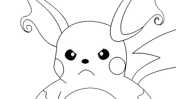 Raichu Is Angry Coloring Page : Color Luna