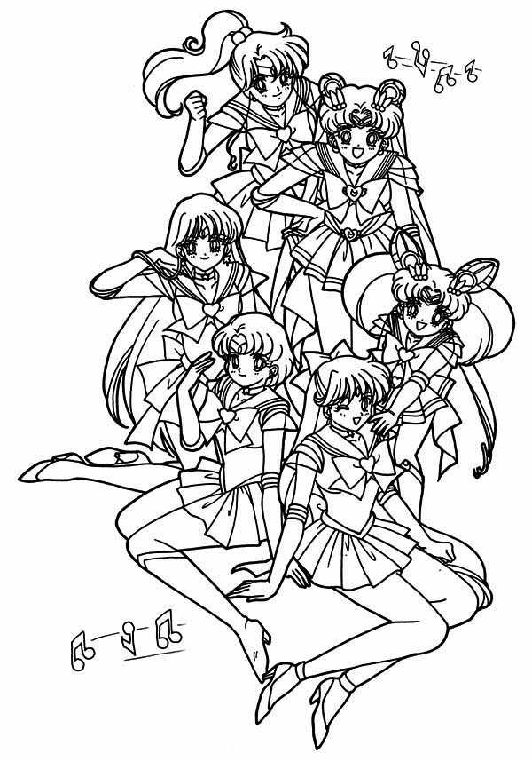 Sailor Moon Poster Coloring Page : Color Luna