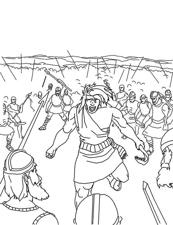 Samson Slaying Entire Army Coloring Page : Color Luna