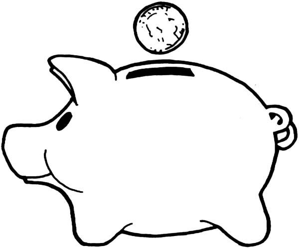 Save Money Piggy Bank Coloring Page : Color Luna