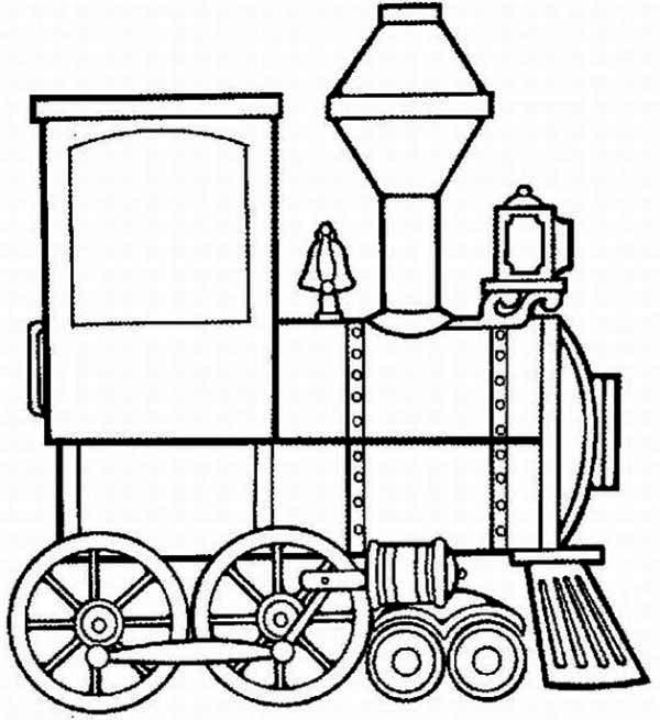Steam Train Locomotive Coloring Page : Color Luna