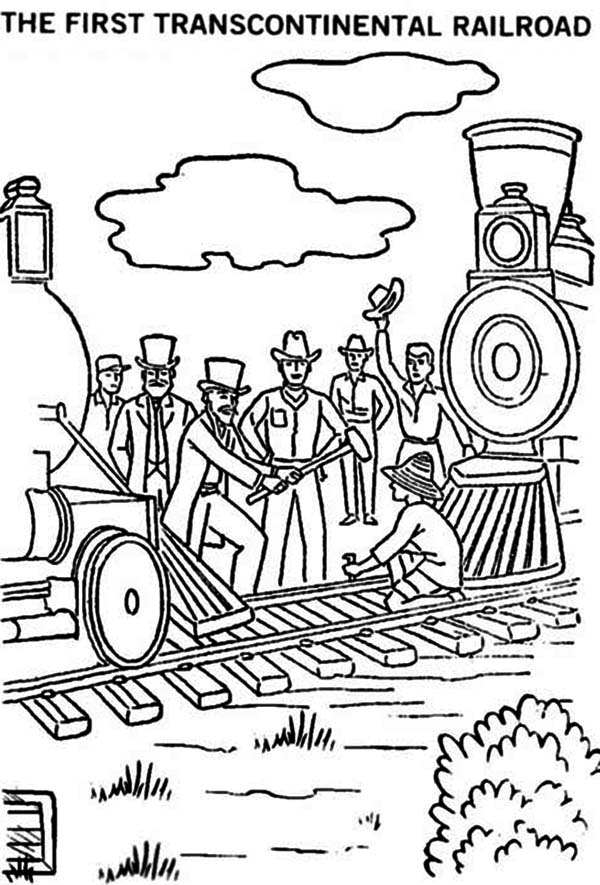 The First Transcontinental Railroad Coloring Page : Color Luna