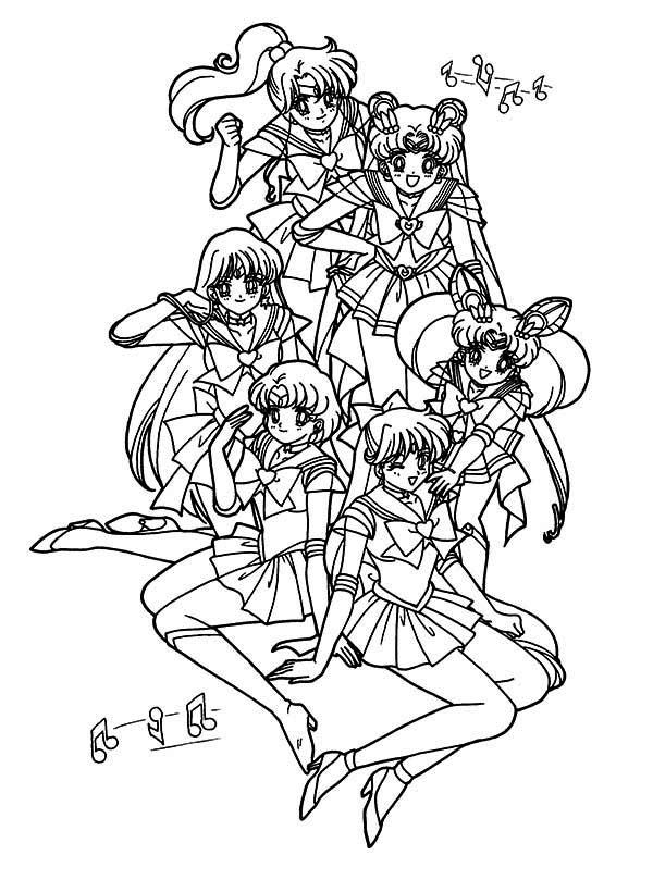 The Guardian Senshi Sailor Moon Coloring Page : Color Luna