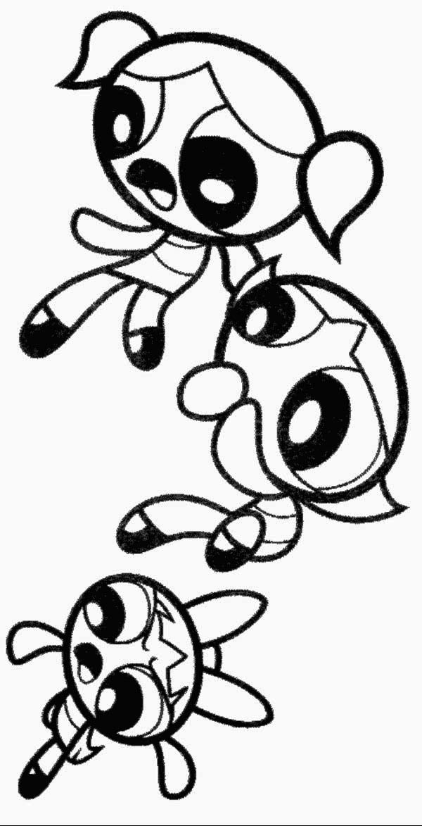 The Powerpuff Girls Is Afraid Coloring Page : Color Luna