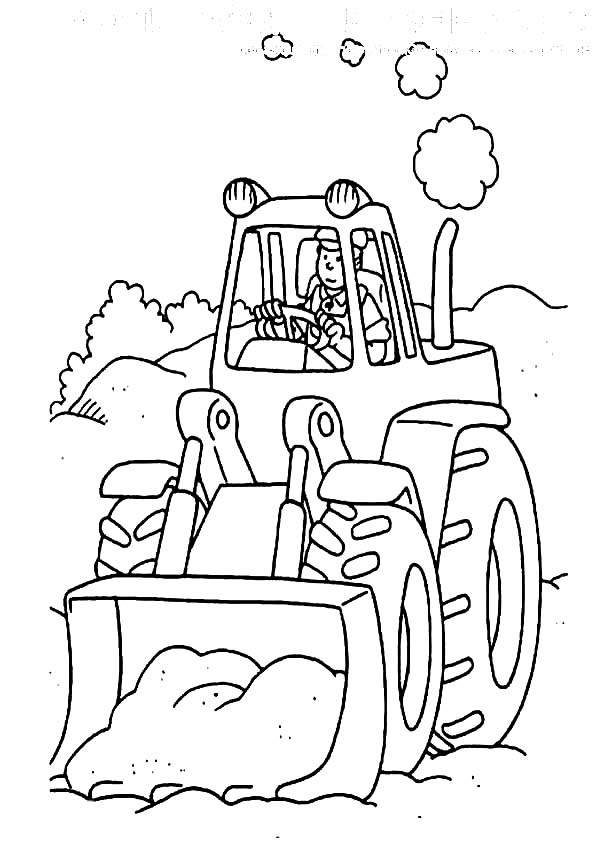 Tractor The Digger Coloring Page : Color Luna