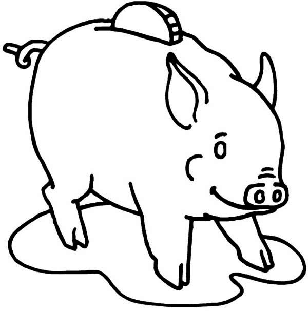 Use Piggy Bank To Save Your Money Coloring Page : Color Luna