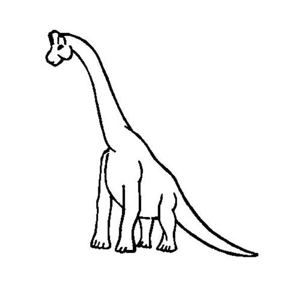 Brachiosaurus Outline Coloring Page : Color Luna