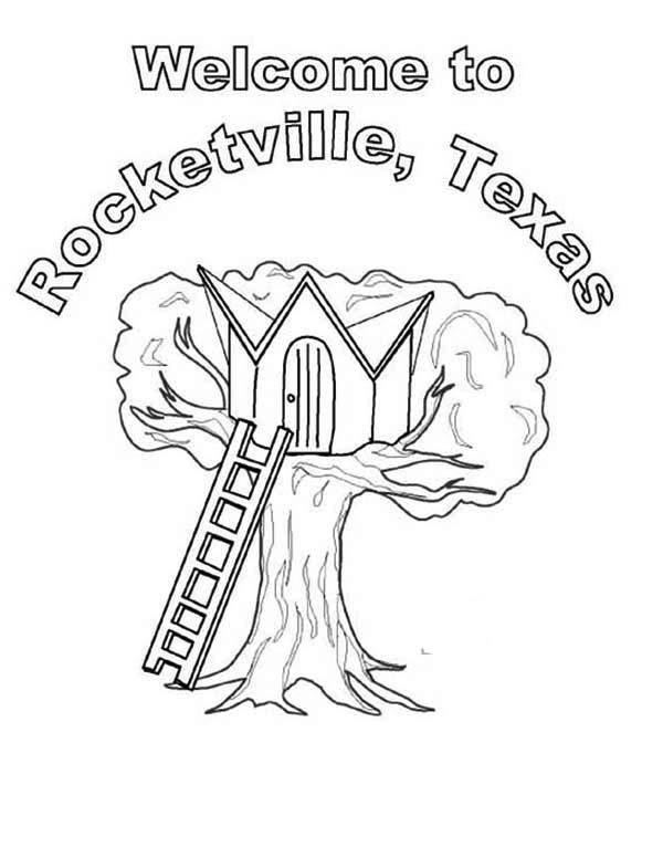 Rocketville Treehouse Coloring Page : Color Luna