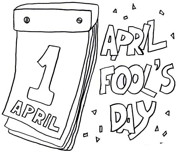 Lets Put Everyone On Joke On April Fools Day Coloring Page