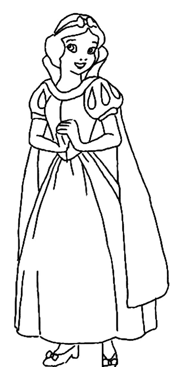 Snow White Coloring Page For Kids : Color Luna