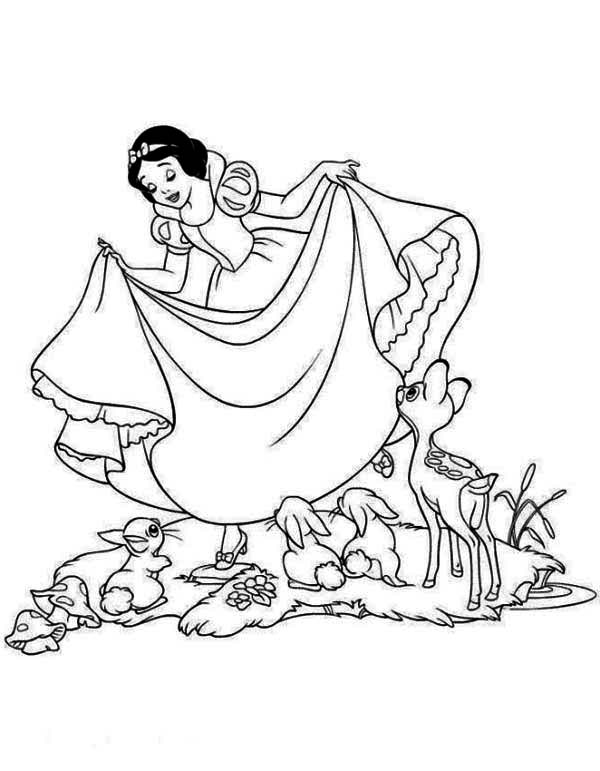 Snow White Love Her Dress Coloring Page : Color Luna