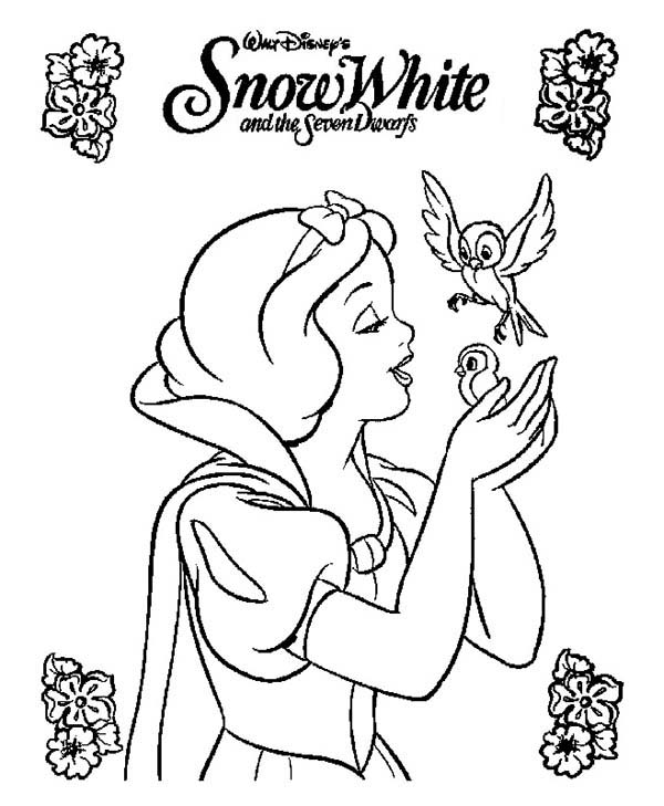 Snow White Movie Poster Coloring Page : Color Luna
