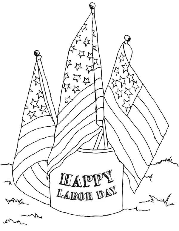 American Labor Day Coloring Page : Color Luna