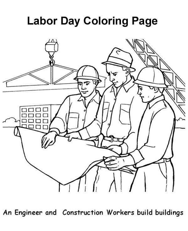 An Engineer And Construction Workers Build Buildings In