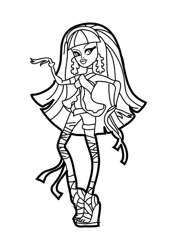 Beautiful Cleo De Nile In Monster High Coloring Page