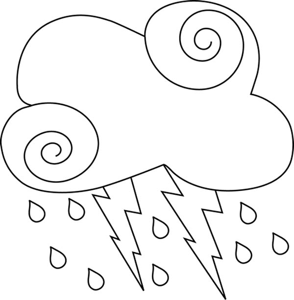 Lightning Outside Coloring Page