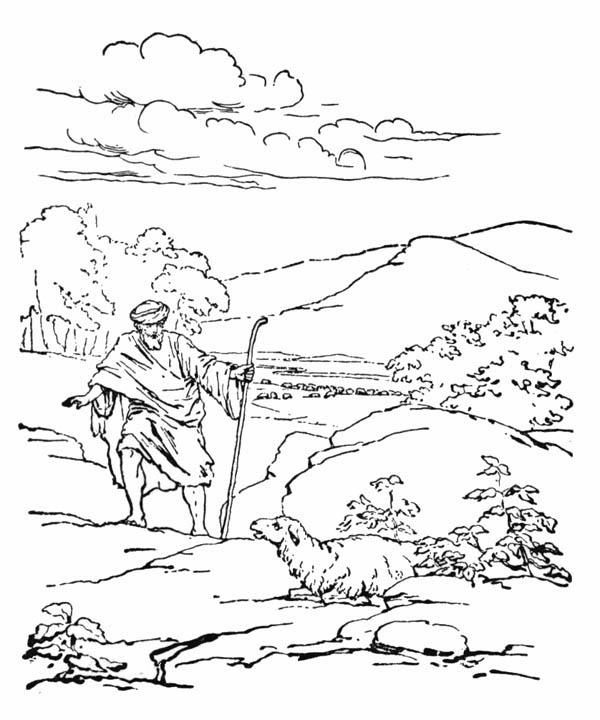 Depiction Of Parable Of The Sower Coloring Page : Color Luna