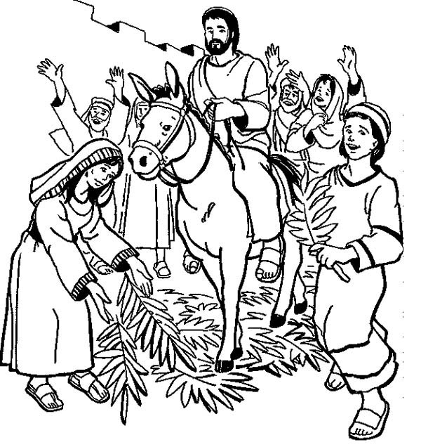 Hosanna Hosanna In Palm Sunday Coloring Page : Color Luna