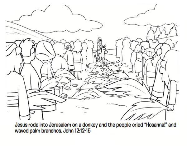 Jesus Rode Into Jerussalem On A Donkey In Palm Sunday