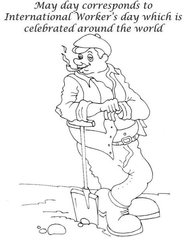 Labor Day Is International Workers Day Coloring Page