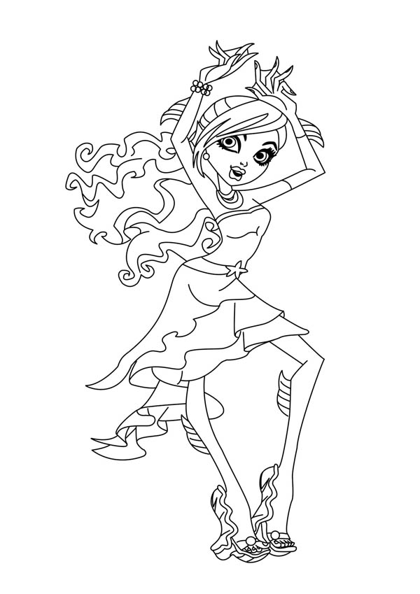 Lagoona Blue From Monster High Coloring Page : Color Luna