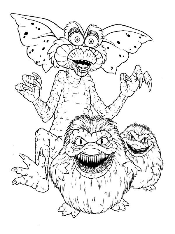 Monster Gremlins Coloring Page : Color Luna