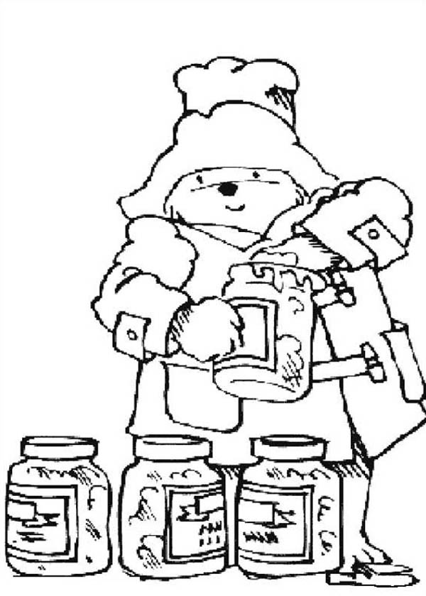 Paddington Bear Love Honey Very Much Coloring Page : Color