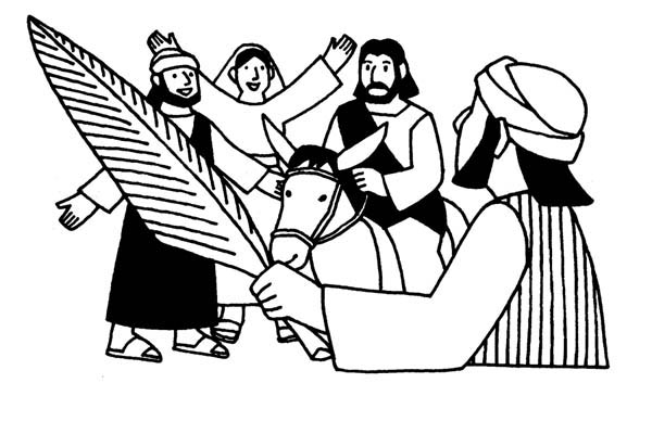 Palm Sunday Image Coloring Page : Color Luna