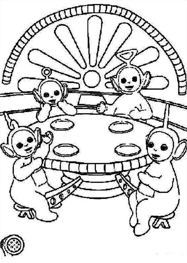 Picture Of The Teletubbies Coloring Page : Color Luna