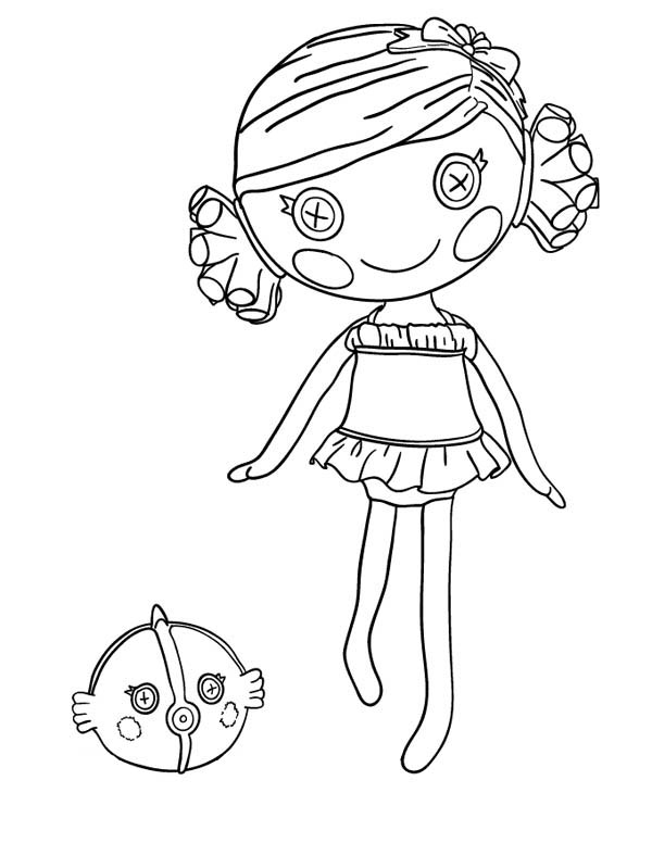 Sand E Starfish From Lalaloopsy Coloring Page : Color Luna