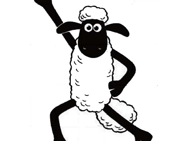 Shaun The Sheep Winning Pose Coloring Page : Color Luna