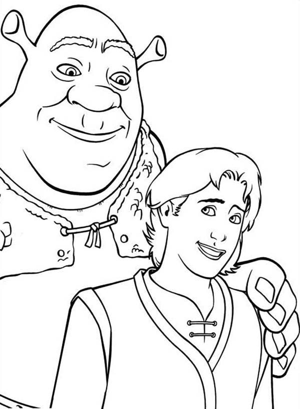 Shrek Coloring Page : Color Luna