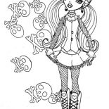 Cute Draculaura Posing In Monster High Coloring Page