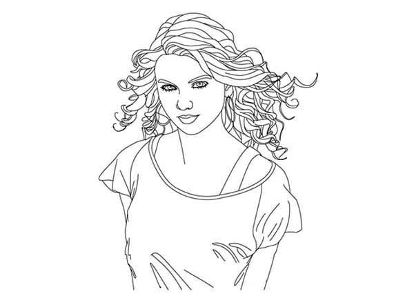 Taylor Swift Coloring Page For Kids : Color Luna