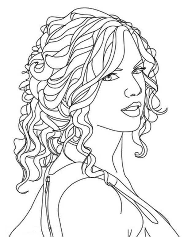 Taylor Swift Image Coloring Page : Color Luna