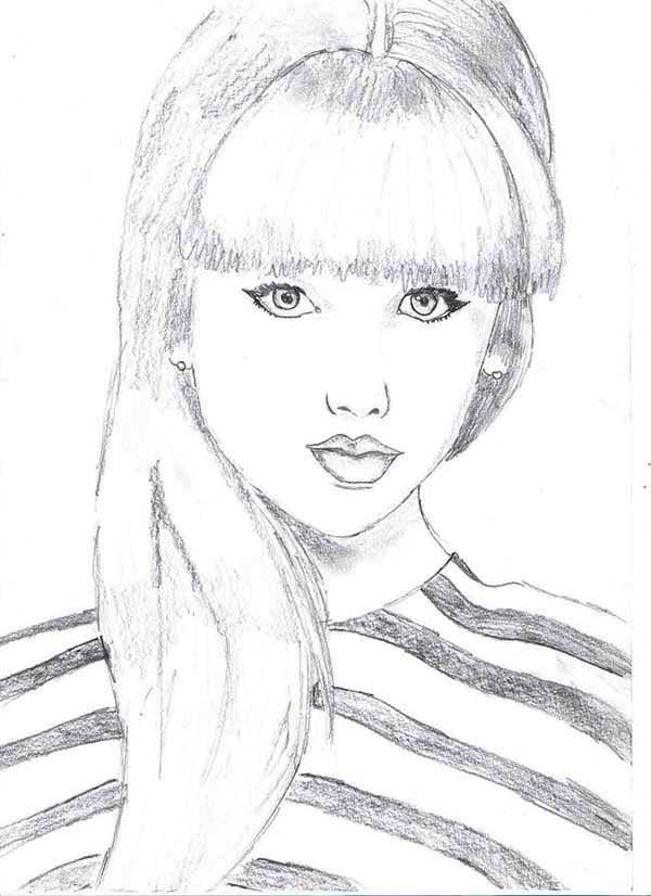 Taylor Swift Picture Coloring Page : Color Luna
